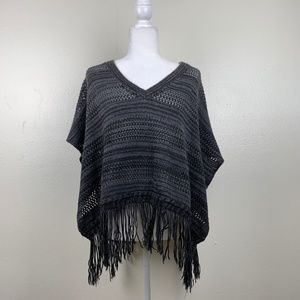 Urban Outfitters Ecote Fringe Poncho Sweater XS
